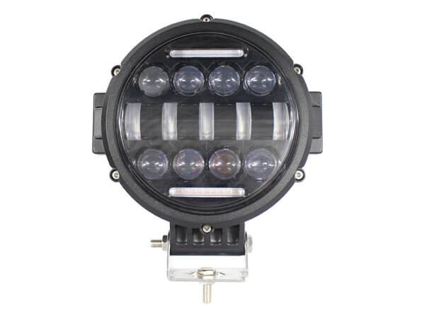 ODM Manufacturing 7 Round LED Driving Light With Horizontal Accent and High Low Beam 4600 Lumen