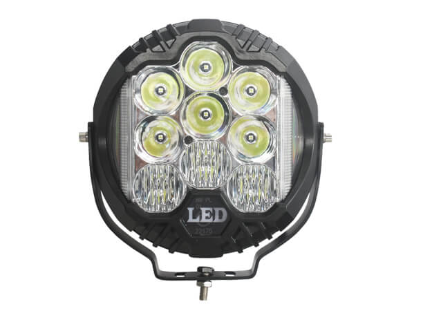 OEM Manufacturer 9 Round LED Driving Light With Side Shooter Combo Beam 4900 Lumens