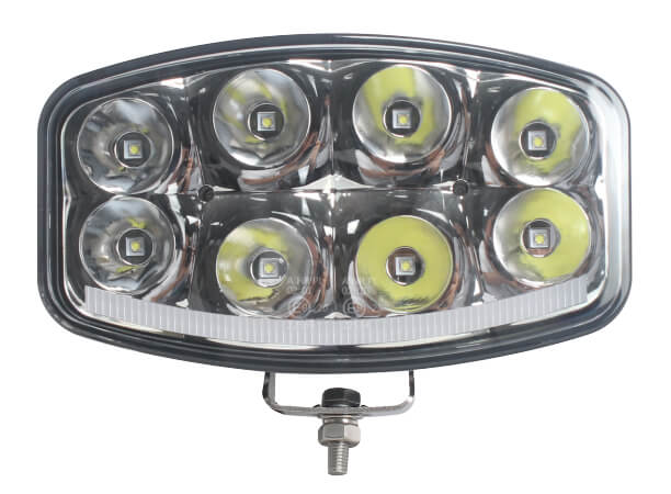 OEM Manufacturing 9.6 Oval LED Driving Light With Side Curved Accent 6500 Lumens