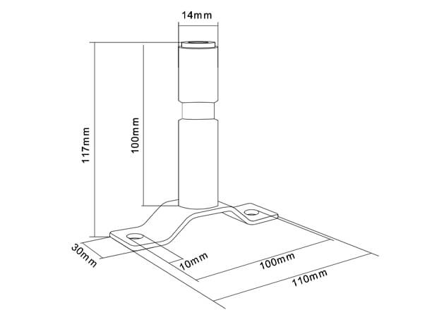 din pole rotating flashing beacon flexible mounting