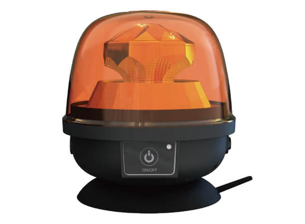 LED Amber Flashing Beacon Light With Battery