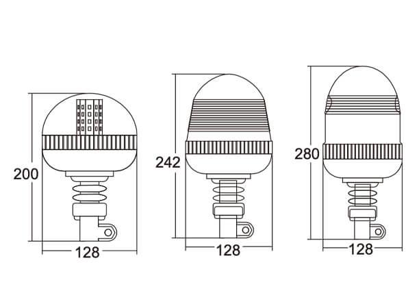 high powered led strobe beacon lights flexible din mount