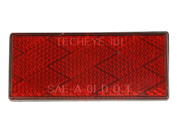 3.15 inch Red Rectangle reflectors for heavy duty trucks and trailer