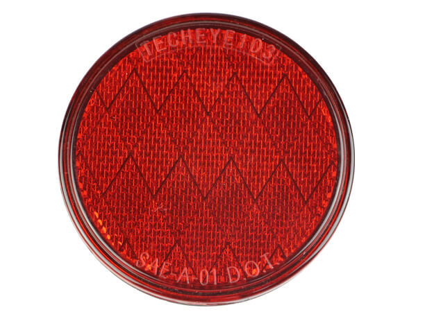 3.15 inch Red reflectors for heavy duty trucks and trailer