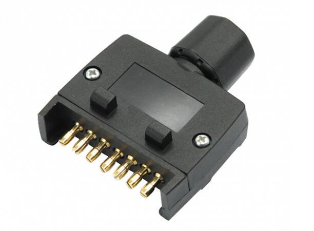 Flat 7 Pin Male Plug Trailer Adaptor for Caravan
