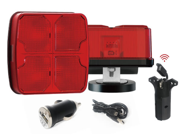 Magnetic Wireless Trailer Towing Boat LED Light Kit