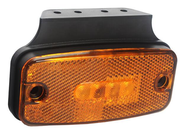 12V Amber LED Side Marker light with Reflector Emark