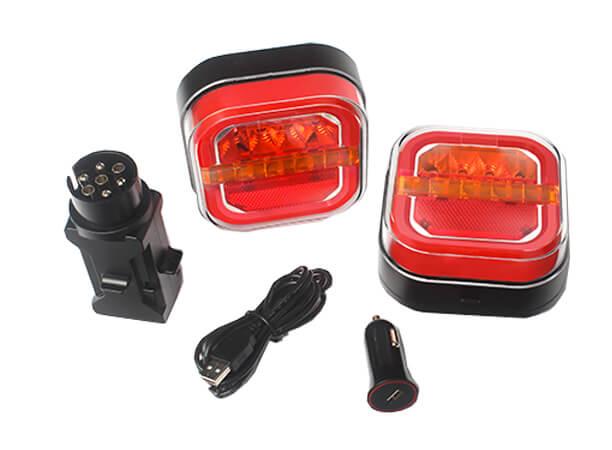 wireless magnetic LED trailer towing light kit for rv caravan boat